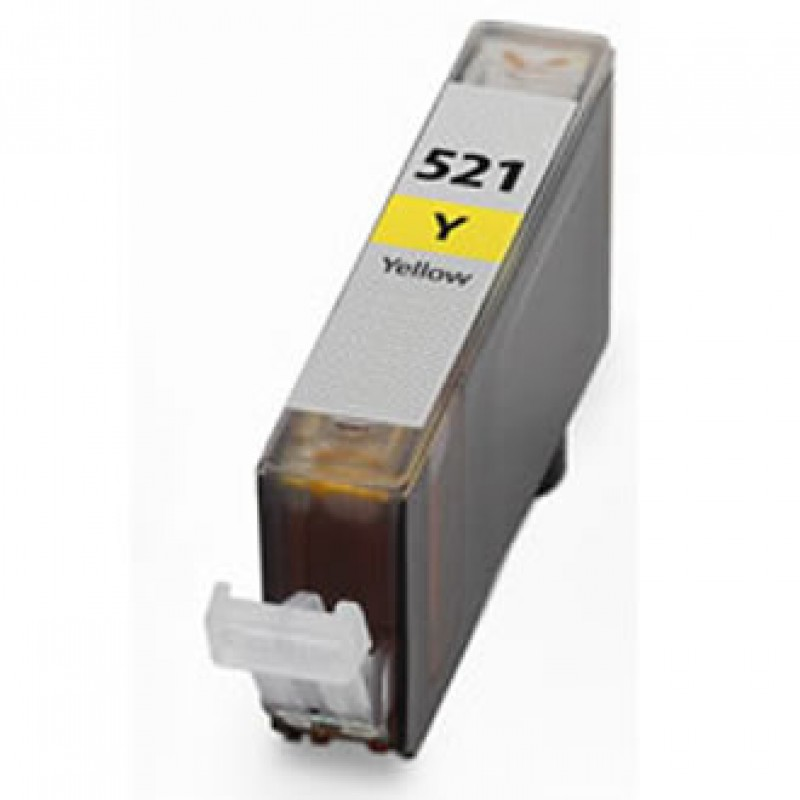 Remanufactured  μελάνι Canon CLI-521 Yellow Aνακατασκευασμένα