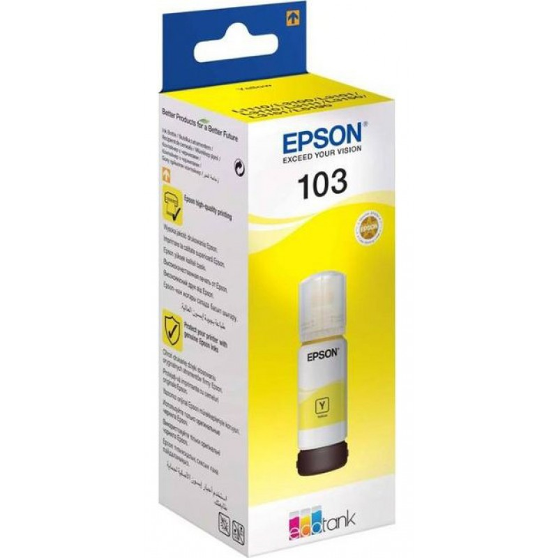 Original Ink Epson 103 Yellow  C13T00S44A